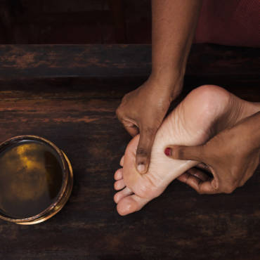 Fußreflexzonen Massage