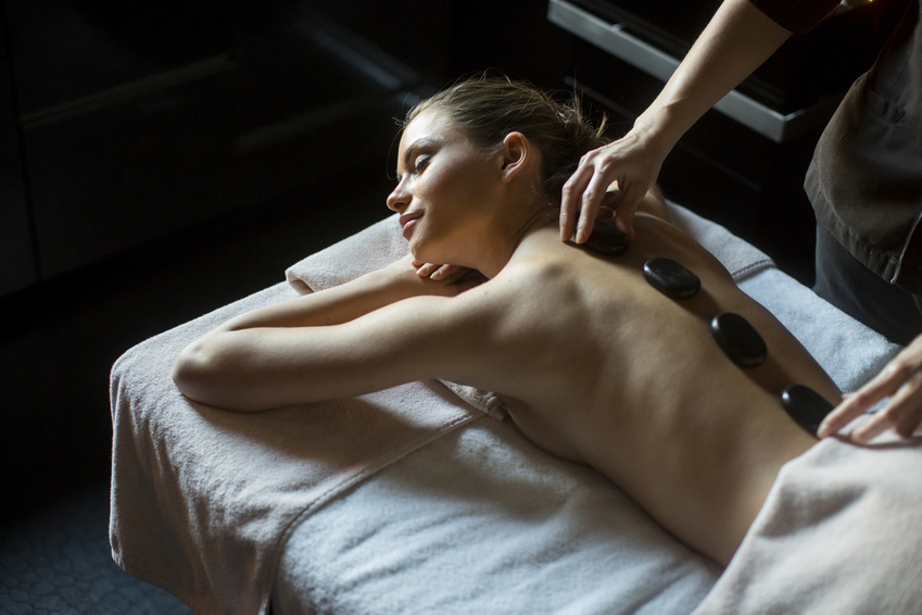 Rücken Wärme Massage